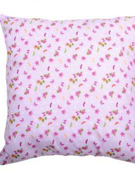 Perna decorativa roz bumbac fluturi Claude 40x40