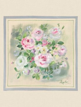 Perna florala 50x50 cm Rosagathe3 bumbac