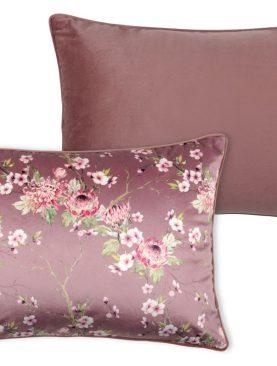 Perna florala catifea roz inchis Boudoir Vieux Rose 40x60 cm