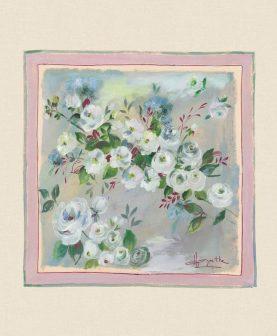 Perna flori 50x50 cm Rosagathe1 bumbac (Franta)