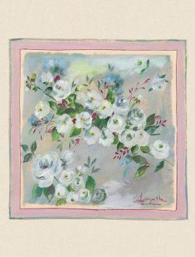 Perna flori bumbac 50x50 cm Rosagathe1