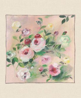 Perna flori 50x50 cm Rosagathe2 bumbac (Franta)