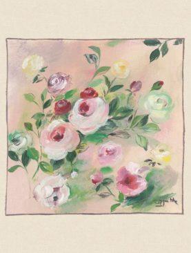Perna flori 50x50 cm Rosagathe2 bumbac