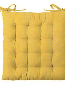 Perna galbena scaun bumbac Sole Jaune 40x40 cm