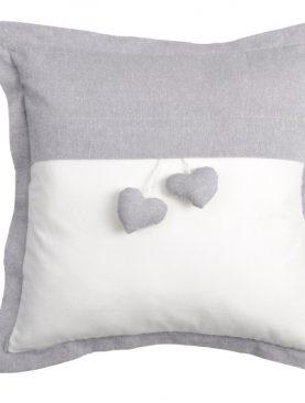 Perna gri alb inima 1717 Joliesse2 40x40 cm