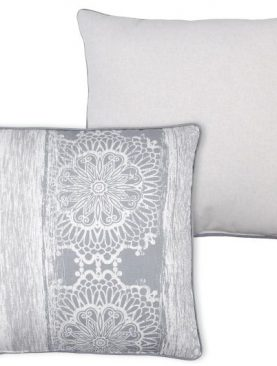 Perna gri decorativa Saadi Gris 50x50 cm