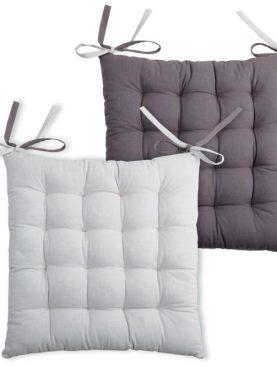 Perna gri scaun Duo Galette Gris Perle 40x40 cm