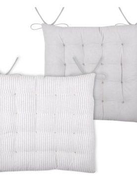 Perna gri scaun bumbac Edgar Gris 40x40 cm