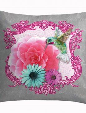 Perna pasare colibri colorata bumbac 50x50 cm Colorama3
