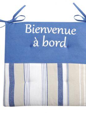 Perna pentru scaun albastra Bienvenue3 38x38 cm