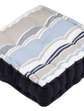 Perna podea dungi albastre Guernezey Ocean 45x45x10 cm