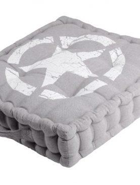 Perna podea gri de sezut Portland 45x45x10 cm