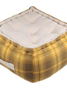Perna puf podea galbena Arnold Moutarde 40x40x30 cm