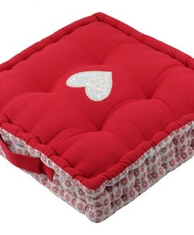 Perna rosie podea Darla Rouge 45x45x10 cm
