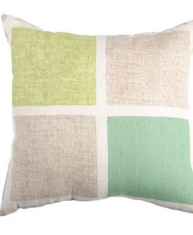 Perna rustica verde patrate 50x50 cm 100% in Colorsquare (Franta)