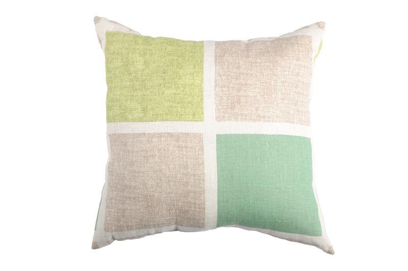 Perna rustica verde patrate 50×50 cm 100% in Colorsquare (Franta)