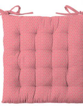 Perna scaun colorata bumbac Sole Corail 40x40 cm