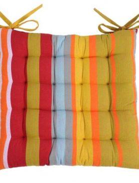 Perna scaun colorata bumbac Ventura multicolor 40x40 cm