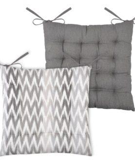 Perna scaun gri bumbac Ikati Rayee Gris 40x40 cm