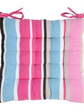 Perna scaun roz albastra bumbac Ventura rose 40x40 cm