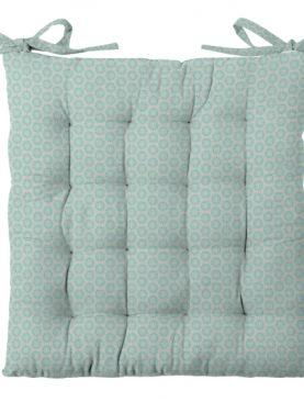 Perna scaun turcoaz bumbac Sole Celadon 40x40 cm