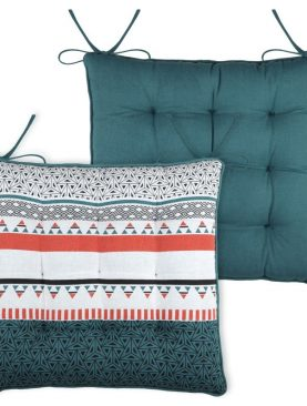 Perna scaun turcoaz geometrica Niro Canard 40x40 cm