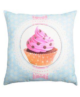 Perna turcoaz cupcake roz Chantilly2 50x50 cm