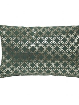 Perna verde catifea Italian Velvet Circua Botella 30x50 cm