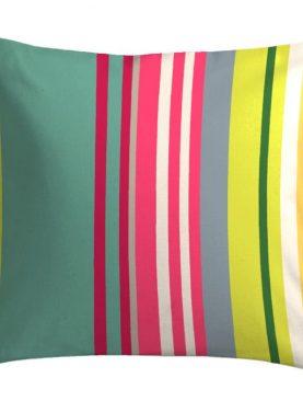 Perna verde dungi bumbac Santacruz Gris/Grena 40x40 cm