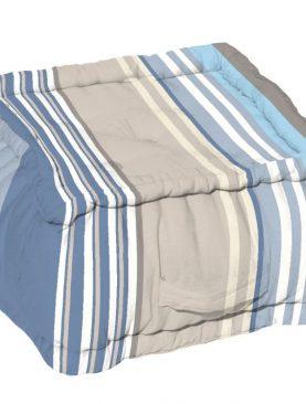 Puf podea (perna) albastru bumbac 1111 Santacruz Bleu 40x40x30 cm