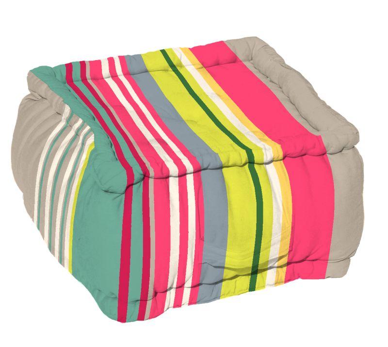 Puf podea (perna) bumbac Santacruz Gris/Grena 40x40x30 cm (Franta)