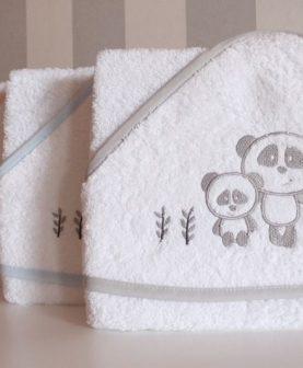 Prosop bebe copii gluga Panda 1204 100x100 cm (Spania)
