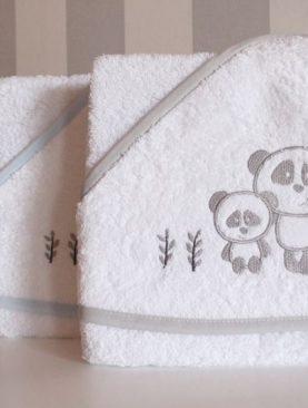 Prosop bebe copii gluga Panda 1204 100x100 cm