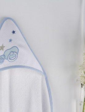 Prosop bebe suzeta albastra 1277 62 Azul 100x100 cm