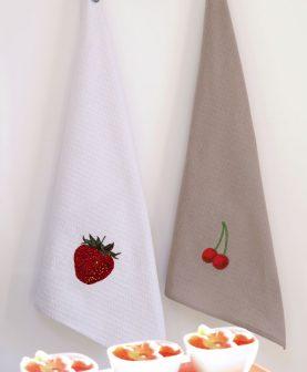 Prosop bucatarie bumbac Berries - set 2 buc 50x70 cm (Franta)