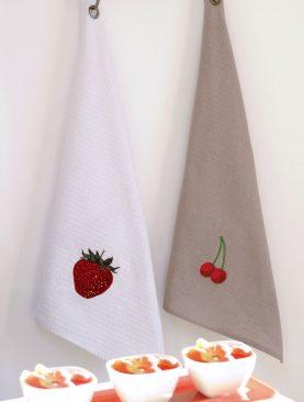 Prosop bucatarie Berries bumbac - set 2 buc 50x70 cm