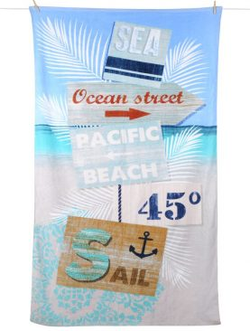 Prosop plaja marinaresc ocean Pacifea 100x180 cm