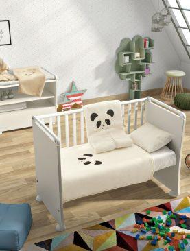 Sac dormit bebelusi Panda 6281 Natural 80x90 cm