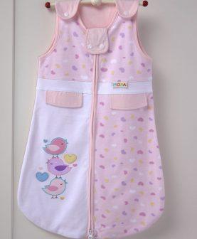 Sac dormit bebelusi roz bumbac 214 32x65 cm (Spania)