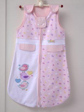Sac dormit bebelusi roz bumbac 214 32x65 cm