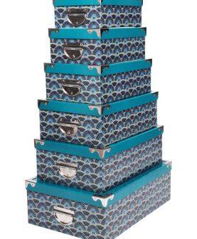 Set 6 cutii cu capac depozitare Guimard  Canard 44x31 cm
