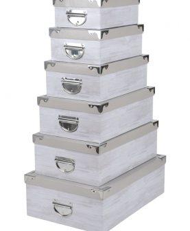 Set 6 cutii depozitare Nortik 44x31 cm