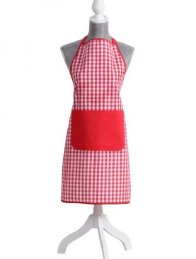 Sort bucatarie carouri rosii/albe Vichy 70x80 cm