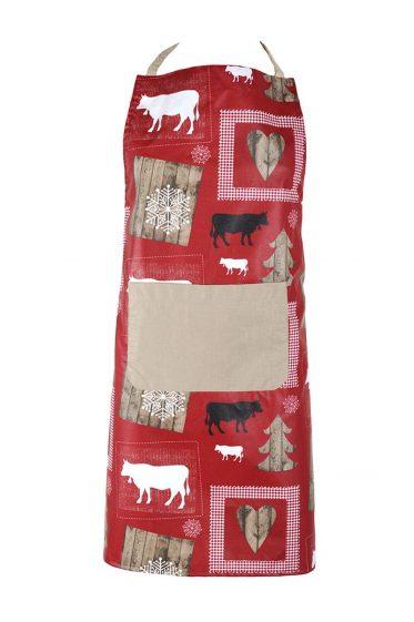 Sort bucatarie rosu rustic Montagne Enduit Wool Rouge 70x80 cm