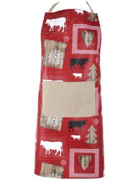 Sort bucatarie rosu rustic Wool Rouge 70x80 cm