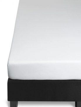 Cearceaf pat 180x200 cm alb bumbac Jersey
