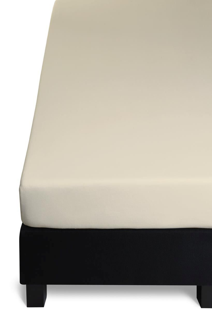 cearceaf bej elastic pat Fitted Sheet Percale Sand