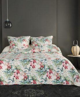 cuvertura florala pat dublu