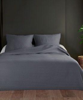 cuvertura gri pentru pat