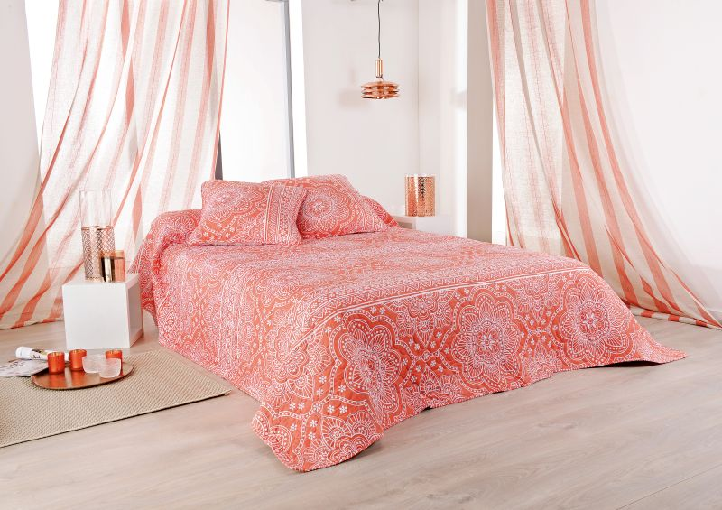 cuvertura pat corail dormitor 5061 Mandala